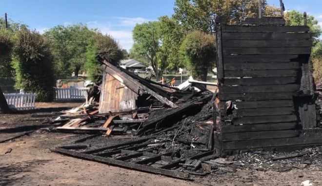 Στιγμιότυπο από πυρκαγιά σε καθολική Εκκλησία στον Καναδά