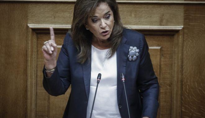 Δεύτερη ημέρα της συζήτησης στην Ολομέλεια της Βουλής της πρότασης μομφής που κατέθεσε η ΝΔ εναντίον της κυβέρνησης την Παρασκευή 14 Ιουνίου 2018.  (EUROKINISSI/ΓΙΩΡΓΟΣ ΚΟΝΤΑΡΙΝΗΣ)