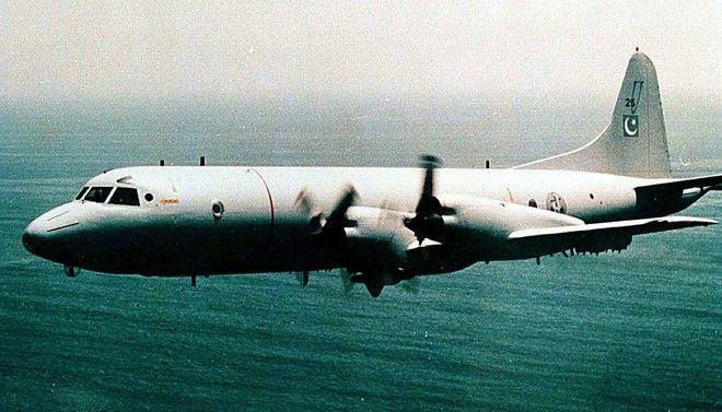 Αεροσκάφος Ναυτικής Συνεργασίας P-3C Orion του Πακιστάν σε φωτογραφία του 1999. Το αεροσκάφος είναι αμερικανικής κατασκευής