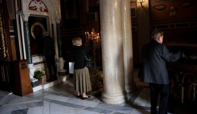 Πιστοί σε εκκλησία