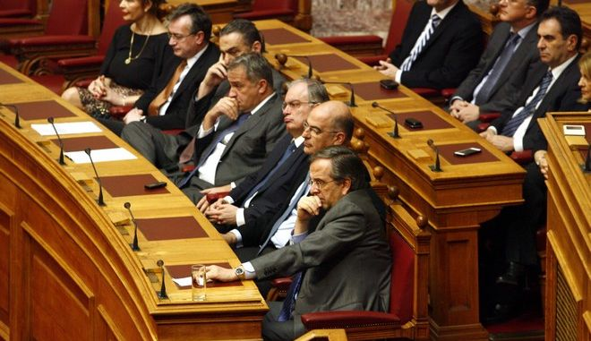 Δεύτερη ψηφοφορία για την εκλογή Προέδρου της Δημοκρατίας στην Βουλή την Τρίτη 23 Δεκεμβρίου 2014. (EUROKINISSI/ΓΙΩΡΓΟΣ ΚΟΝΤΑΡΙΝΗΣ)