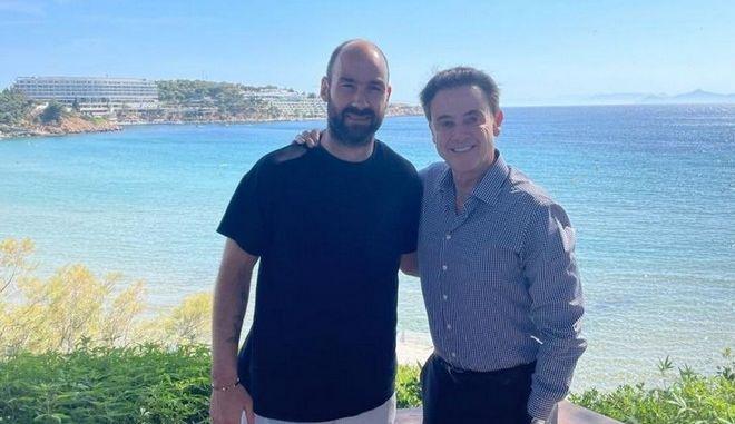 Η φωτογραφία του Πιτίνο με τον Σπανούλη για την επιστροφή του στην Εθνική ομάδα
