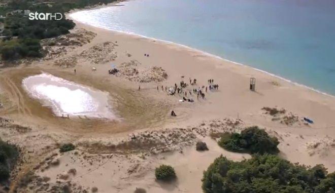 Γυρίσματα του GNTM 3 σε παραλία NATURA στην Ελαφόνησο