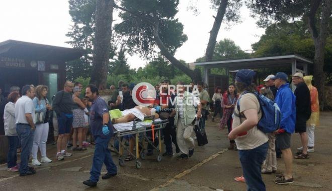 Κεραυνός στην Κνωσό: Τραυματίστηκαν τουρίστες