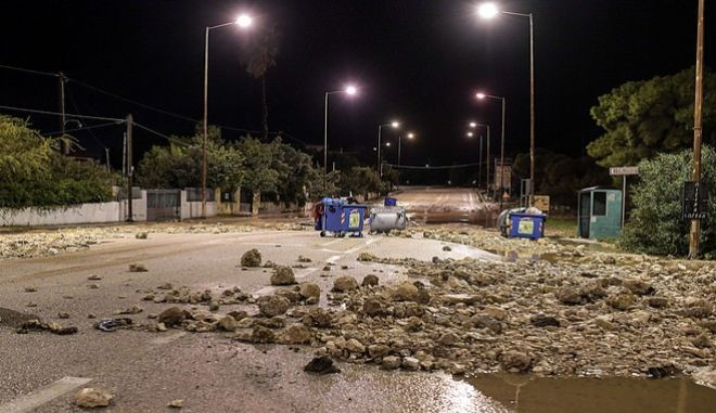 Καταστροφές στην Κινέτα από τα έντονα καιρικά φαινόμενα