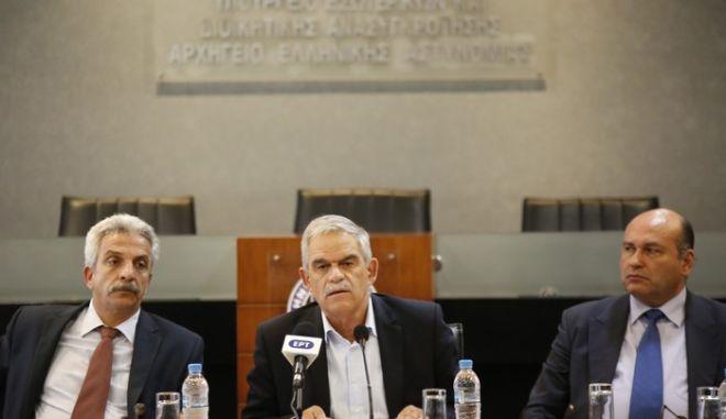 ΑΘΗΝΑ-Συνέντευξη του υπουργού Προστασίας του Πολίτη Νίκου Τόσκα.(EUROKINISSI-ΣΤΕΛΙΟΣ ΜΙΣΙΝΑΣ)