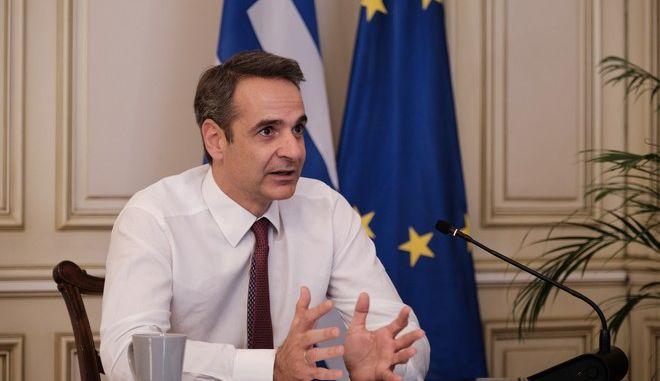 Ο Πρωθυπουργός, Κυριάκος Μητσοτάκης (EUROKINISSI/ Γ.Τ. Πρωθυπουργού/ Δημήτρης Παπαμήτσος)