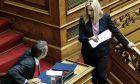 Στιγμιότυπο από τη συζήτηση σε επίπεδο Αρχηγών Κομμάτων, επί των αναθεωρητέων διατάξεων του Συντάγματος, στην Ολομέλεια της Βουλής