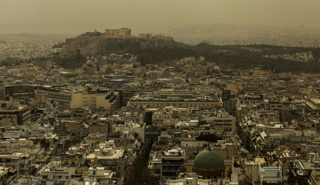 Red dust cover the atmosphere of Athens, on March 5, 2018 / K      ,  ,  5 , 2018
