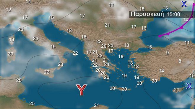 Ο καιρός στα Βαλκάνια την Παρασκευή