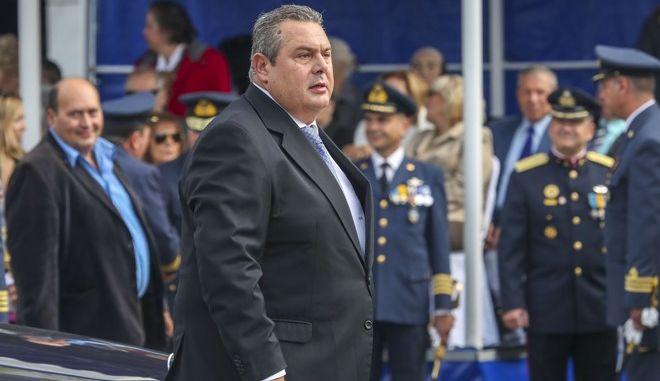Ο υπουργός Άμυνας Πάνος Καμμένος στην στρατιωτική παρέλαση στη Θεσσαλονίκη