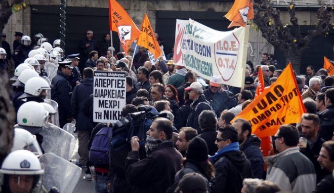 Συλλαλητήριο της ΑΔΕΔΥ κατά την ψήφιση του πολυνομοσχεδίου