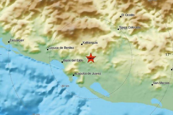 Το επίκεντρο του σεισμού 7,1 Ρίχτερ στο Μεξικό