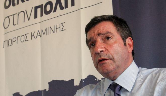 Ο υποψήφιος δήμαρχος Αθηναίων Γιώργος Καμίνης μιλάει στους δημοσιογράφους κατά την διάρκεια συνέντευξης Τύπου, την Τρίτη 9 Νοεμβρίου 2010. ΑΠΕ-ΜΠΕ/ΑΠΕ-ΜΠΕ/ΚΑΤΕΡΙΝΑ ΜΑΥΡΩΝΑ