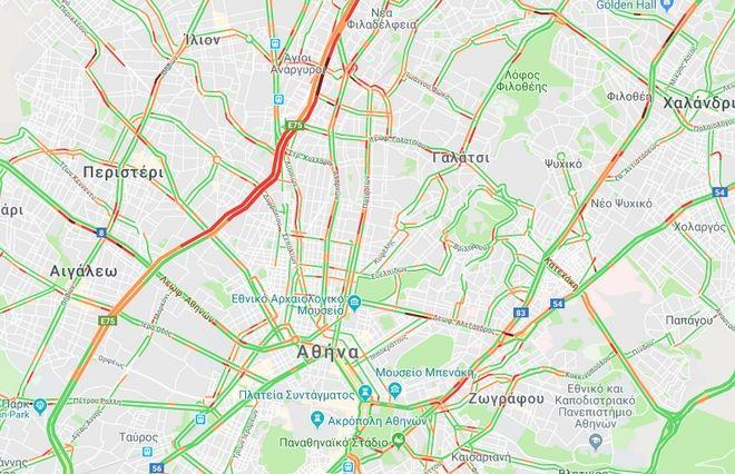 Κίνηση στους δρόμους: Ομαλά η κυκλοφορία των οχημάτων