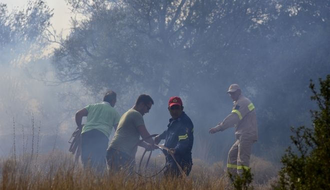 Εικόνα από τη φωτιά στο Κουτσοπόδι Αργολίδας