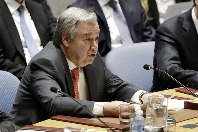 Ο ΓΓ του ΟΗΕ Αντόνιο Γκουτέρες ενώπιον του Συμβουλίου Ασφαλείας