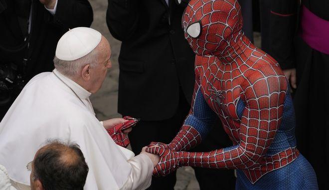 Βατικανό: Όταν ο Πάπας Φραγκίσκος συνάντησε τον... Spider-Man