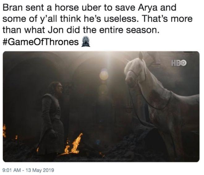 Game of Thrones: Τι συμβολίζει το λευκό άλογο της Arya