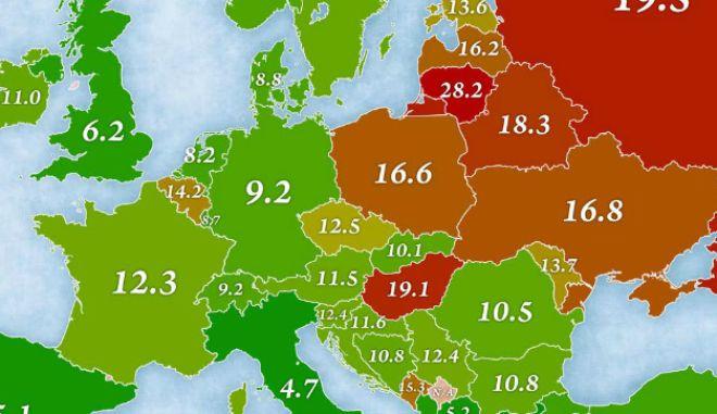 Χάρτης: Η Ευρώπη των αυτοκτονιών