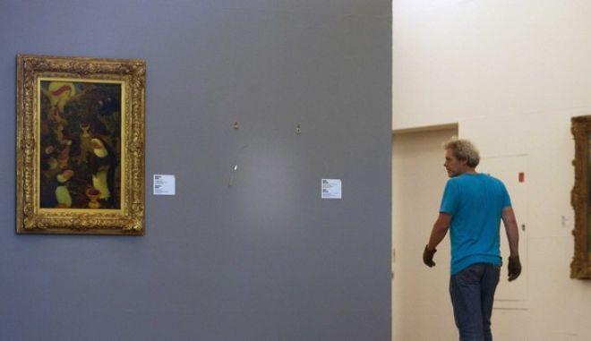 Κενή θέση στο μουσείο Kunsthal του Ρότερνταμ μετά την μεγάλη κλοπή το 2012