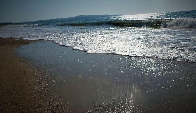 Στιγμιότυπο από παραλία στην Κέρκυρα