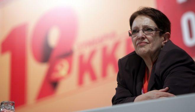 ΑΘΗΝΑ-Έναρξη των εργασιών του 19ου Συνεδρίου του ΚΚΕ με την παρουσίαση της εισήγησης της Κεντρικής Επιτροπής από τη γενική γραμματέα της ΚΕ Αλέκα Παπαρήγα.(EUROKINISSI-ΓΕΩΡΓΙΑ ΠΑΝΑΓΟΠΟΥΛΟΥ)