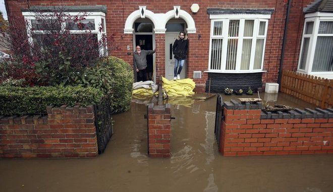 Εικόνα από τα πλημμυρικά φαινόμενα στην Αγγλία
