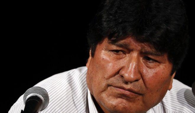 Ο έκπτωτος πρόεδρος της Βολιβίας Έβο Μοράλες