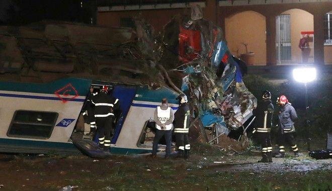 Σιδηροδρομικό δυστύχημα στην Ιταλία