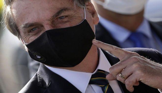 O πρόεδρος της Βραζιλίας Ζαΐρ Μπολσονάρου