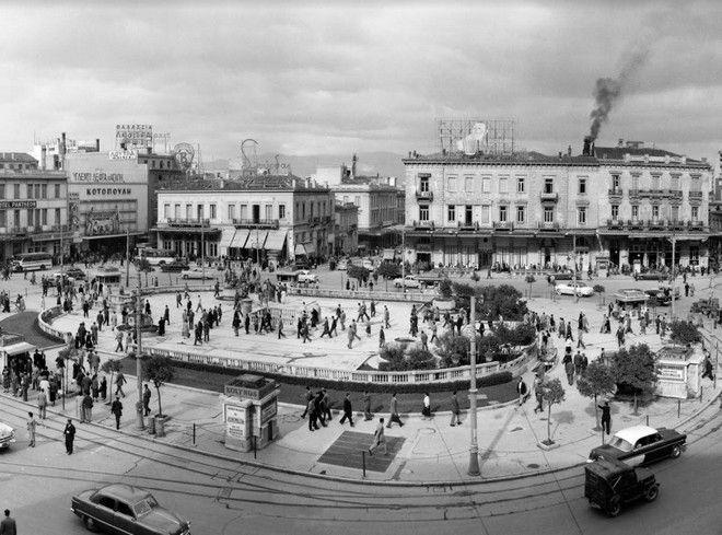 Πλατεία Ομονοίας, Απρίλιος 1955