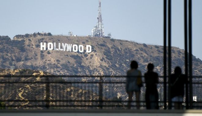 The Hollywood Sign is pictured from the Hollywood & Highland Center on Tuesday, Aug. 23, 2016, in Los Angeles. (Photo by Chris Pizzello/Invision/AP)