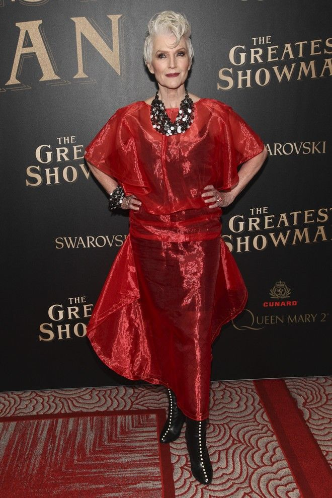 Maye Musk attends the world premiere of