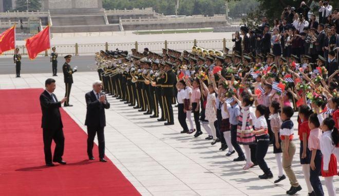 Ο Πρόεδρος της Δημοκρατίας Προκόπης Παυλόπουλος κατά την επίσκεψή του στην Κίνα