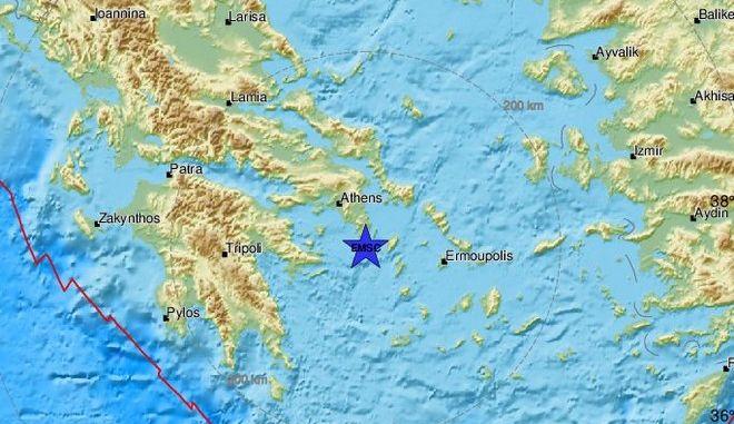 Σεισμός 4,1 Ρίχτερ ανοιχτά του Σουνίου