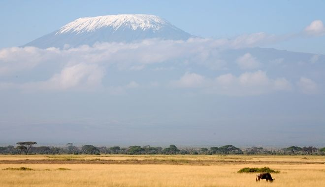 Το Κιλιμάντζαρο όπως φαίνεται από την Κένυα