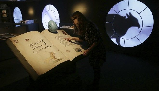 A member of British Library staff poses for a picture at the