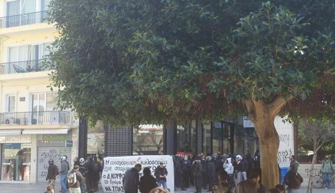 Κρήτη: Ένταση και χημικά στην πορεία για τον Κουφοντίνα