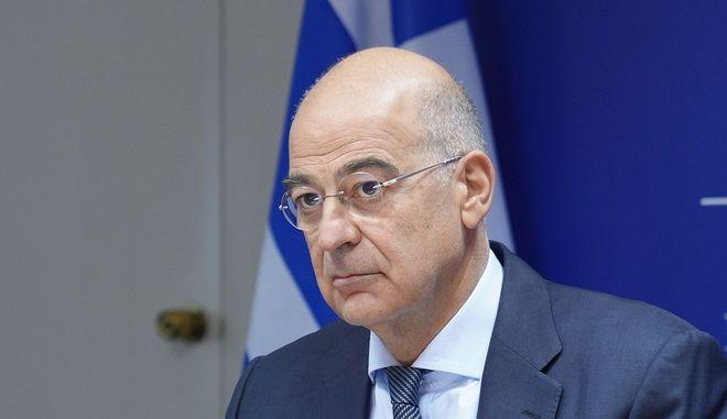 O υπουργός Εξωτερικών Νίκος Δένδιας
