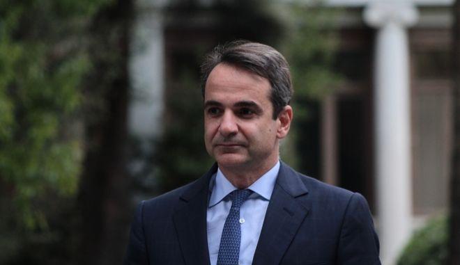 Ο Κ.Μητσοτάκης στο Προεδρικό Μέγαρο