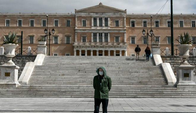 Στιγμιότυπο από την πλατεία Συντάγματος