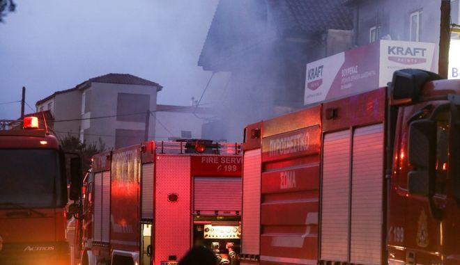 Πυρκαγιά στη Θεσσαλονίκη