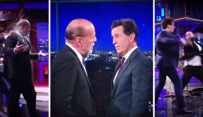 Το ξύλο του Bruce Willis στον Stephen Colbert θα το θυμάσαι για πάντα