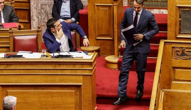Τσίπρας-Μητσοτάκης στην συζήτηση για την επιτροπή αναθεώρησης του Συντάγματος