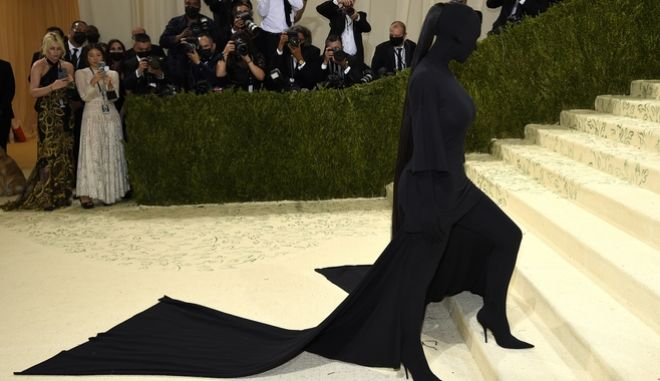 Η εμφάνιση της Kim Kardashian, στο Met Gala 2021.