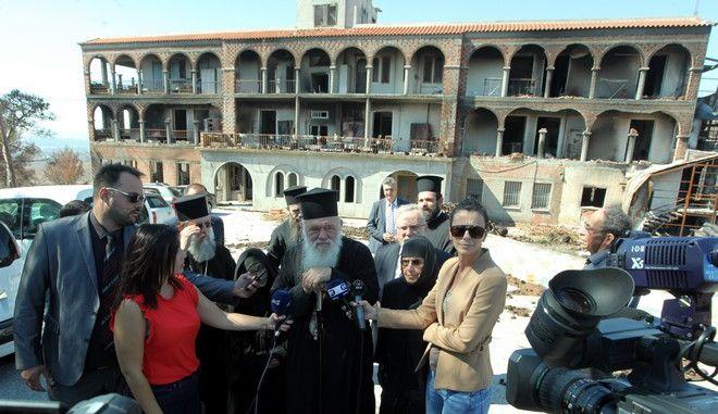 """Ο Αρχιεπίσκοπος Ιερώνυμος στο Λύρειο Παιδικό ίδρυμα """"Οι Άγιοι Ανάργυροι"""""""