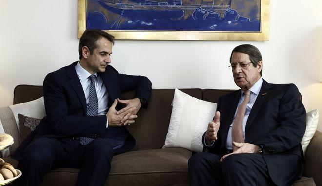 Ο πρόεδρος της Κύπρου, Ν. Αναστασιάδης και ο πρωθυπουργός, Κ. Μητσοτάκης