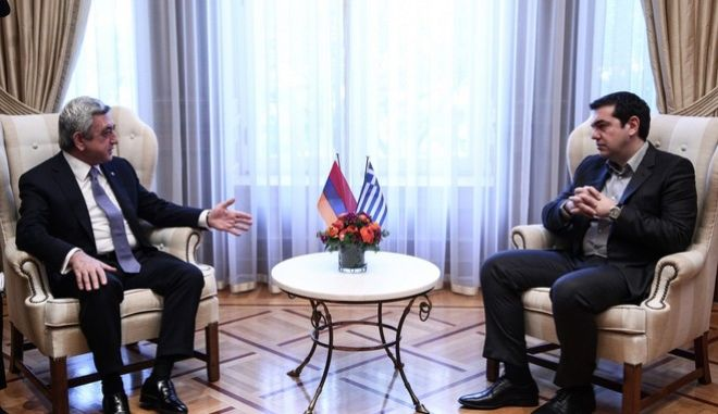 Meeting between the Prime Minister of Greece, Alexis Tsipras and the President of Armenia Serzh Sargsyan, in Athens, on March 15, 2016 /           Serzh Sargsyan,  ,  15 , 2016