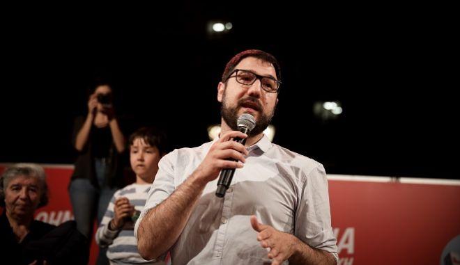 Ο υποψήφιος για το Δήμο της Αθήνας, Νάσος Ηλιόπουλος